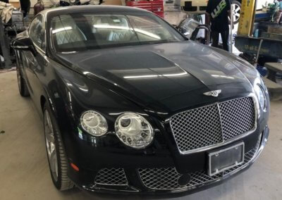 Black Bentley completely restored